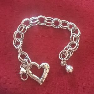 Brighton pebbled collection silver bracelet